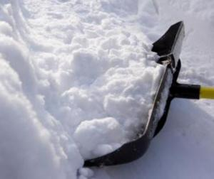 Be careful when shoveling... it can lead to a heart attack.