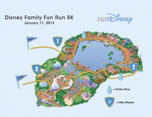 Last year's 5K course map. I'm pretty sure it won't change too much.