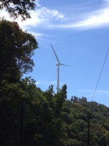 One of the wind turbines