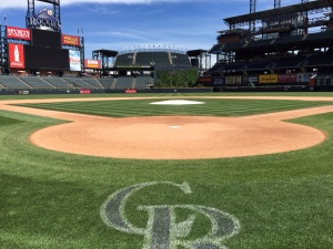 Looking toward the Batter's Eye from behind home plate at Coors Field