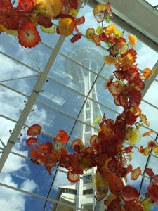 The Space Needle as seen from the Dale Chihuly Garden